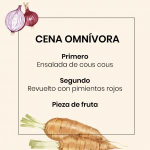 Menú Vegano Chaminade - Cena omnívora