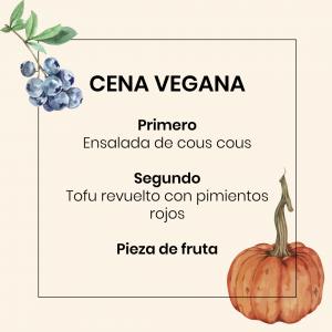Menú Vegano Chaminade - Cena vegana