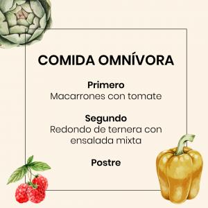 Menú Vegano Chaminade - Comida omnívora