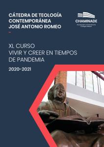 Programa de la Cátedra de Teología Contemporánea Chaminade