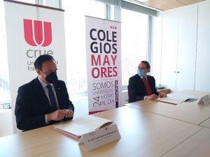 Firma del convenio de colaboración entre CRUE Universidades y el Consejo de Colegios Mayores.