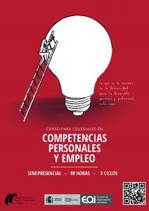 Cartel del curso Competencias Personales y Empleo